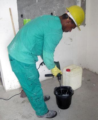Passo 3 - Mistura do Impermeacryl-SF com cimento