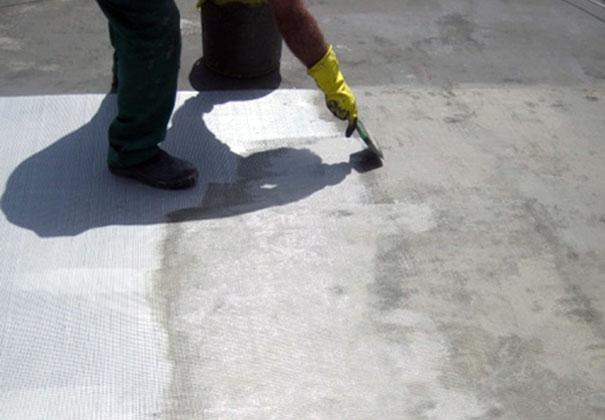 Passo 6 - Aplicação de Impermeacryl-Tela e a 1ª demão do piso e paredes