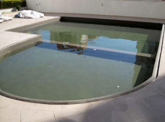 Área inundada para teste de estanqueidade